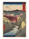 Inume Pass in Kai Province Giclee Print by Ando Hiroshige