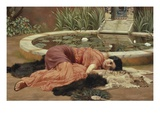 Dolce Far Niente Impresso gicle por John William Godward