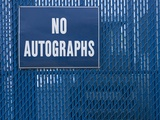 Sign on Chain-link Fence Photographic Print by Bryan Allen