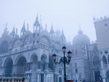 Fog Over the Basilica of San Marco in Venice Photographic Print