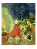 The Red Sphinx Giclee Print by Odilon Redon