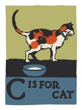 C is for cat Giclee Print