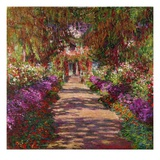 Path in Monet&#39;s Garden, Giverny Giclee Print by Claude Monet
