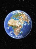 Eastern Hemisphere of Earth Photographic Print by  Kulka