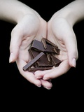 Handful of Dark Chocolate Photographic Print by Elisa Lazo De Valdez