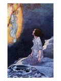 Illustration of Girl Awoken by Vision of Fairy by Charles Robinson Giclee Print
