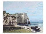 The Cliffs at Etretat after the Storm Giclee Print by Gustave Courbet