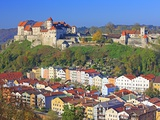 Village Burghausen, Germany Photographic Print by Walter Geiersperger