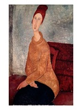 Jeanne Hebuterne in a Yellow Sweater Giclee Print by Amedeo Modigliani