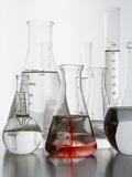 Variety of flasks Fotografisk tryk af Kristopher Grunert