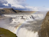 Rainbow Over Gullfoss Waterfall Photographic Print by Sergio Pitamitz