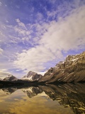 Bow Lake and Crowfoot Mountain, Banff National Park, Alberta, Canada. Photographic Print by John E Marriott