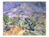 Mont Sainte-Victoire Seen from la Route du Tholonet Giclee Print by Paul Cézanne
