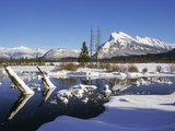 Mount Rundle in Winter, Alberta, Canada Photographic Print by John E Marriott