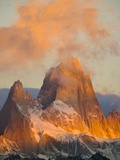 Pink Cumulus Clouds Above Fitzroy Massif Photographic Print by John Eastcott & Yva Momatiuk