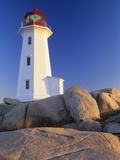 Peggy's Cove Lighthouse, Peggy's Cove, Nova Scotia, Canada Photographic Print by Miles Ertman