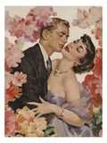 Illustration of Embracing Couple Giclee Print