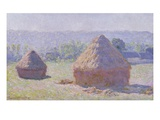 Haystacks, End of the Summer, Morning Effect Giclee Print by Claude Monet