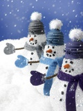 Snowmen in a Row Photographic Print by Gaetano
