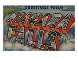 Greetings from Niagara Falls Giclee Print