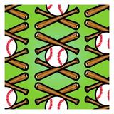 Baseball Pattern Giclee Print