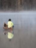 Man fishing Photographic Print by David R. Stoecklein