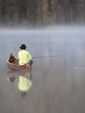 Man fishing Photographic Print by David Stoecklein