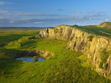Walltown Crags and the route of Hadrian's Wall along the Great Whin Sill Photographic Print by Jason Friend
