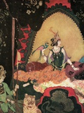 Illustration of Layla holding a bird by Edmund Dulac Lámina fotográfica