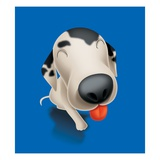 A Dalmatian Dog Sticking Out its Tongue Giclee Print