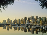 Downtown Skyline from Stanley Park, Vancouver, British Columbia, Canada. Photographic Print by John E Marriott