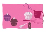 Cupcakes Giclee Print by Anne Bryant