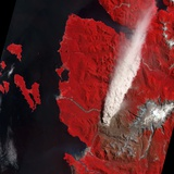 Chaiten Volcano Erupting Photographic Print