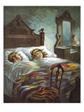 All Snug in Their Beds Giclee Print by William Roger Snow