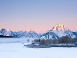 Oxbow Bend in Grand Teton National Park in winter Photographic Print by Frank Lukasseck