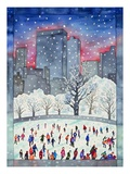 Ice Skating in Central Park Giclee Print
