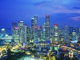 Singapore skyline Photographic Print by Murat Taner
