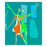 Two People Dancing Giclee Print