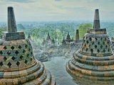 Borobudur on Java Photographic Print by Bob Krist