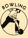 Man bowling Photographic Print