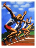 Four Men at Starting Line Giclee Print