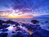 Sunset over beach at Wailea on Maui Photographic Print by Ron Dahlquist