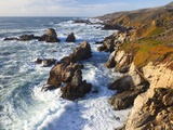 Natural rock arch in surf at Garrapata State Park Photographic Print by Frank Lukasseck