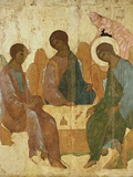 Holy Trinity Photographic Print by Andrei Rublev