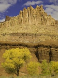Castle and Fluted Wall Formations in Capitol Reef National Park Photographic Print by John Eastcott &amp; Yva Momatiuk