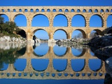 Pont du Gard and Gard River Photographic Print by Sylvain Sonnet