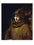 Portrait of His Son Titus, Dressed as a Monk Giclee Print by  Rembrandt van Rijn