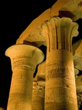 Pillars at Kom Ombo Temple Photographic Print by Dave Bartruff