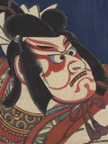 Detail of Two Kabuki Actors Photographic Print by Torii Kiyomitsu II and Toyokuni III