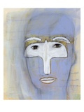 Woman with a dove over her eyes Giclee Print by Marie Bertrand
